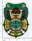 Missouri - Monarch MO Fire Dept Patch Battalion 220, Rescue 2216, Ladder 2212, LSV 2217 Fire Dept Patch