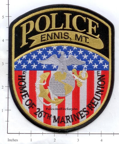 Montana -  Ennis Police Dept Patch
