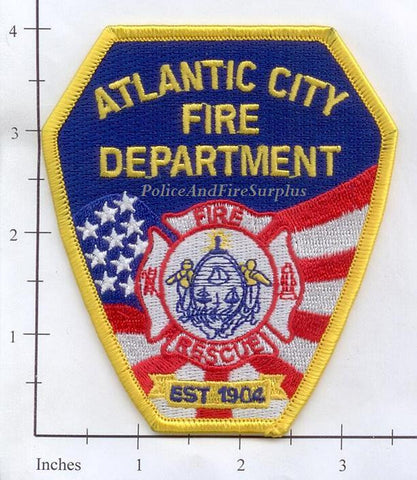 New Jersey - Atlantic City Fire Dept Patch