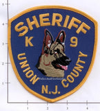 New Jersey - Union County Sheriff K-9 Unit Police Dept Patch