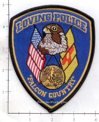 New Mexico - Loving Police Dept Patch