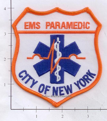 New York City City of New York Paramedic Fire Patch v13