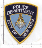 New York - New York City Masonic Temple Police Dept Patch v1