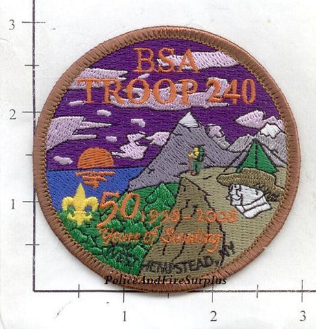 New York - West Hempstead Boy Scout Troop 240 Patch 50th Anniversary