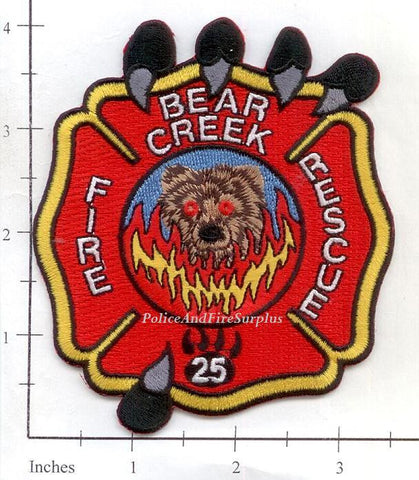 North Carolina - Bear Creek Fire Rescue Dept Patch