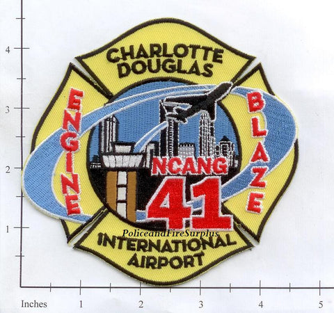 North Carolina - Charlotte Douglas International Airport Engine 41 Patch