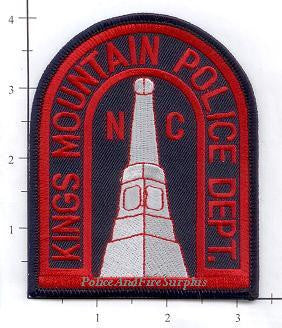 North Carolina - Kings Mountain Police Dept Patch