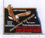 North Dakota - Grand Forks Air Force Base Fire Dept Patch (002)