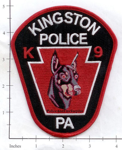 Pennsylvania - Kingston K-9 Police Patch