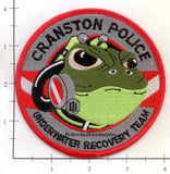 Rhode Island - Cranston Police Underwater Recovery Team Dept Patch v1