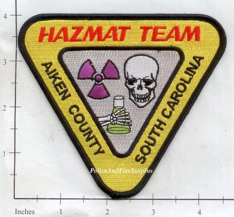 South Carolina - Aiken County Hazmat Team Fire Dept Patch