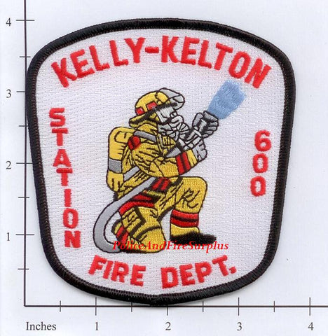 South Carolina - Kelly-Kelton Station 600 Fire Dept Patch