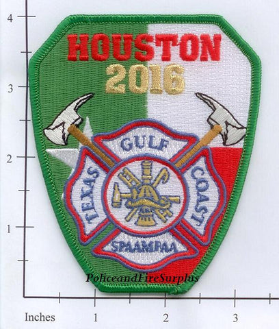 Texas - Houston Chapter of SPAAMFAA 2016 Fire Dept Patch