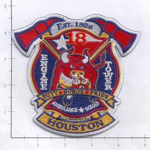 Texas - Houston Station  18 Fire Dept Patch