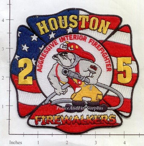 Texas - Houston Station  25 Fire Dept Patch v2