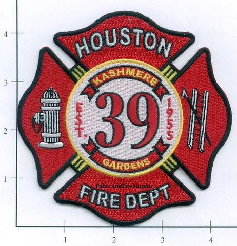 Texas - Houston Station  39 Fire Dept Patch