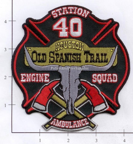 Texas - Houston Station  40 Fire Dept Patch