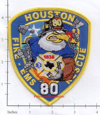 Texas - Houston Station  80 Fire Dept Patch