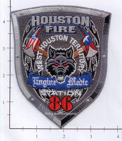 Texas - Houston Station  86 Fire Dept Patch v1