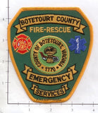 Virginia - Botetourt County Emergency Services, Fire Rescue Fire Dept Patch