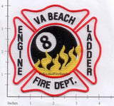 Virginia - Virginia Beach Engine  8 Ladder 8 Fire Dept Patch