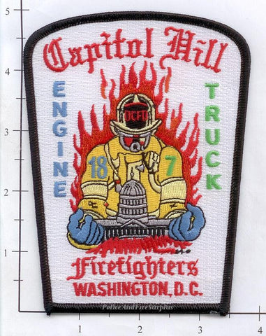 Washington DC - Engine 18 Truck 7 Fire Dept Patch v2