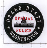 Washington DC - Washington DC Grand Hyatt Special Police Dept Patch