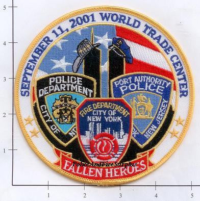 New York - New York City Fire Dept Patch WTC 9-11 patch v2 - Fallen Heroes