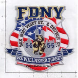 New York - New York City Fire Dept Patch WTC 9-11 patch v2 - We Will Never Forget - Vesey Street