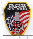 New York - NYC Fire Dept Patch WTC 9-11 - Worn With Pride Patch v8