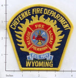 Wyoming - Cheyenne Fire Dept Patch v2