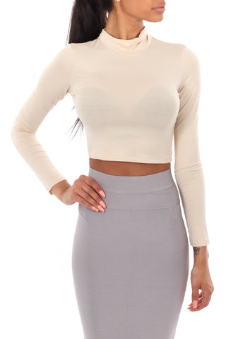 Alice Crop Top Beige