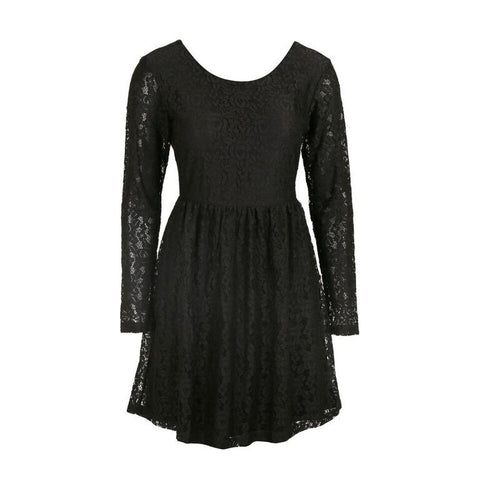 Black Dry Lake Little Lace Sleve Dress