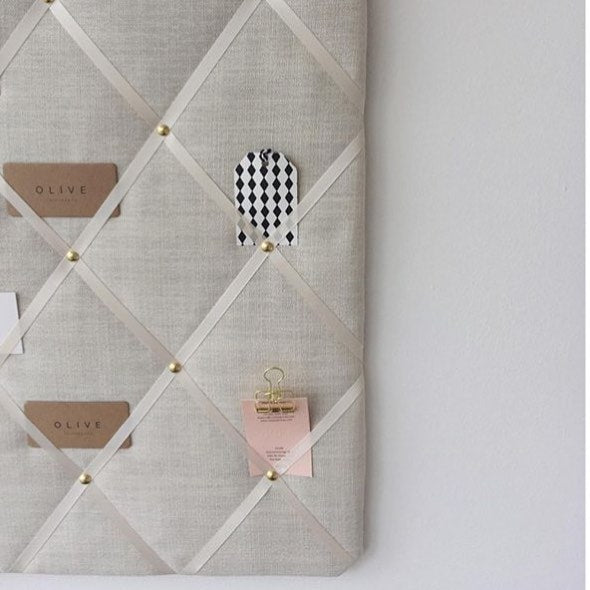 Ivory Linen Message Board, Keep Notes & Reminders Together Organised