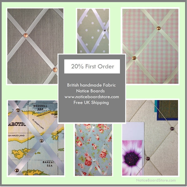 20% off first order fabric memo boards Free UK Delivery The Notice Board Store