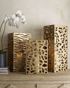 Interior Trends Giraffe - Animal Print Inspired Candle Holders - NoticeBoardStore