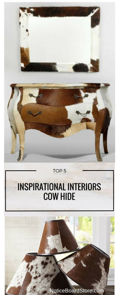 Cow Hide - Top 5 Favourite Cow Print Interior Decorating Ideas - NoticeBoardStore.com