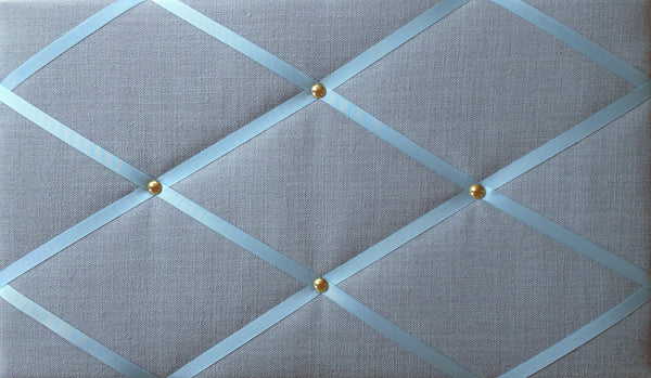 Duck Egg Blue Linen Fabric Bulletin Board £19.99 NoticeBoardStore.com