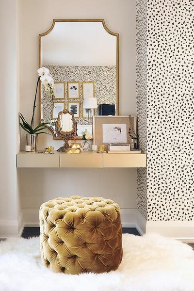 Dalmatian wallpaper alcove dressing table interior trends top 5 NoticeBoardStore.com
