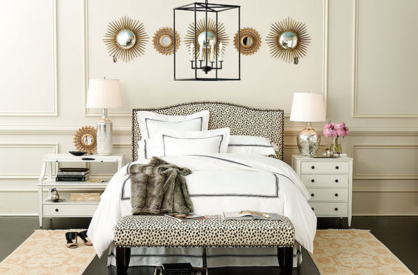 Dalmatian luschious bedroom headboard and bench interior trends top 5 NoticeBoardStore.com