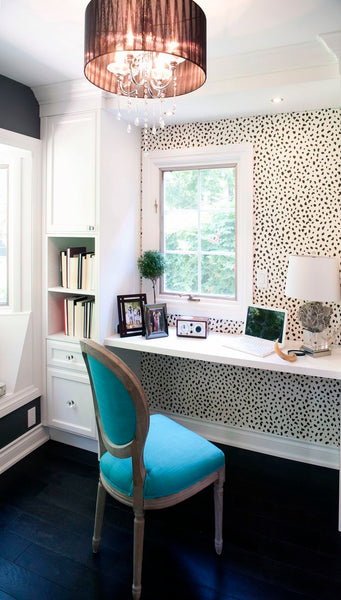 Dalmatian wallpaper home office interior trends top 5 NoticeBoardStore.com