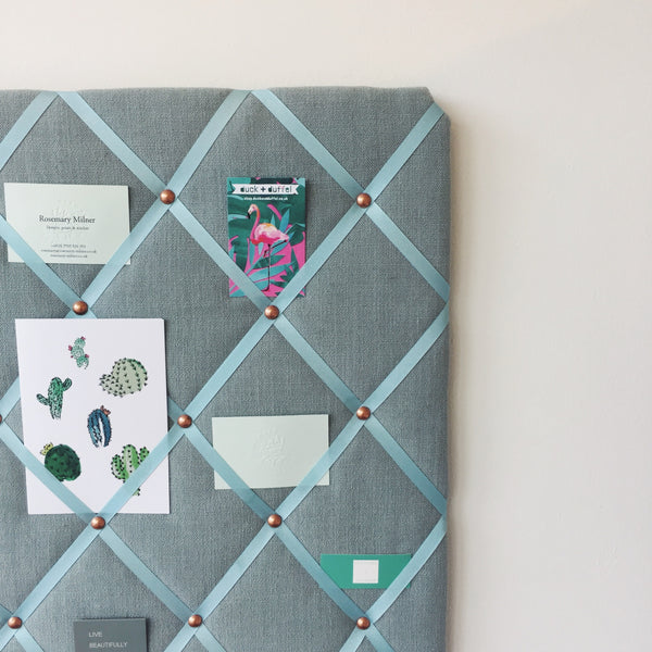 Duck EggLinen Memo Board. Keep Your Notes in Order. NoticeBoardStore