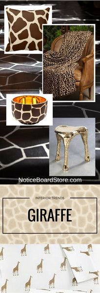 Interior Trends Giraffe, Use Giraffe Print in your Home, Decorating Ideas, Giraffe, NoticeBoardStore