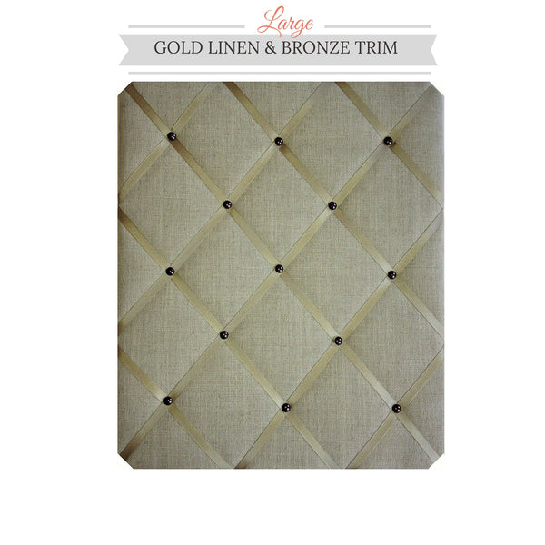 Gold Linen Message Board To Match Your Interior Decor NoticeBoardStore