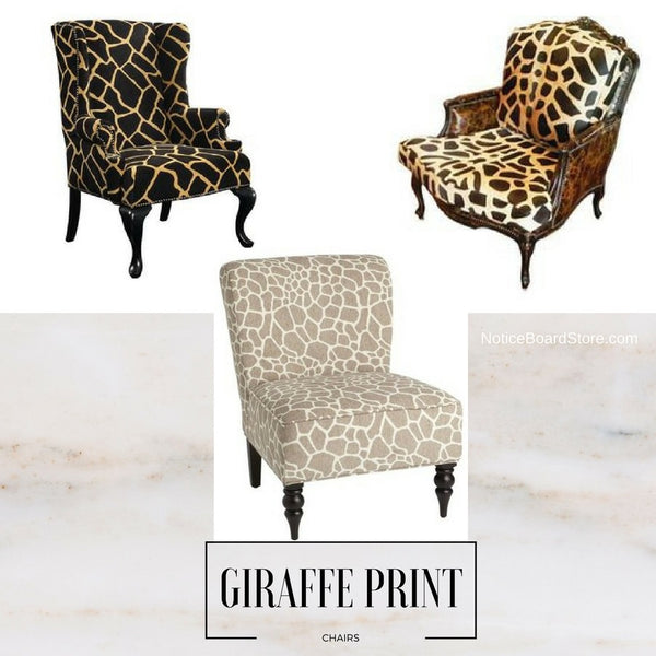 Interior Trends - Giraffe Print Chairs - Decorate with Giraffe Print - NoticeBoardStore.com