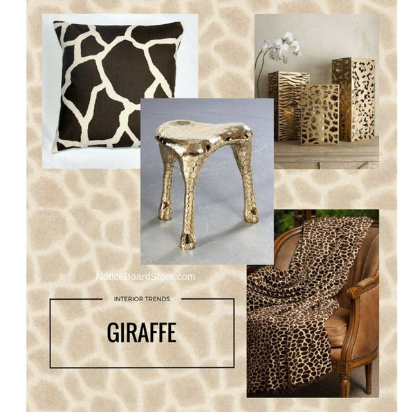 Interior Trends Giraffe Print - How to Use Giraffe in your Home - NoticeBoardStore