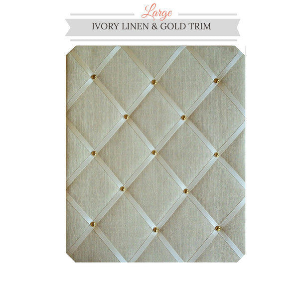 Ivory Linen Memo Board Great For Wedding Planner Seating Arrangement