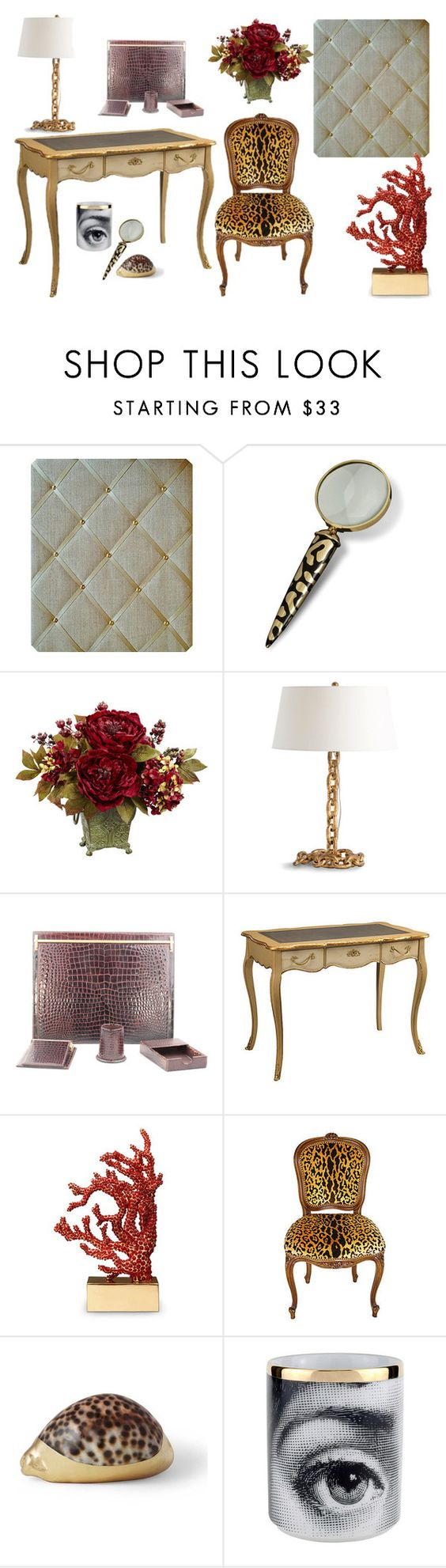 Elegant writing desk, LeopardPrint walnut chair, Cartier snakeskin desk set, oppulent office