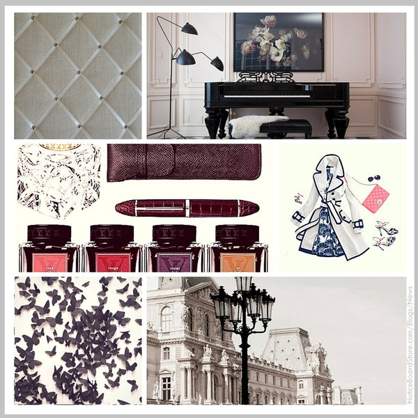 Chic apartment living paris new york mood board interior inspiration NoticeBoardStore.com/Blogs/News