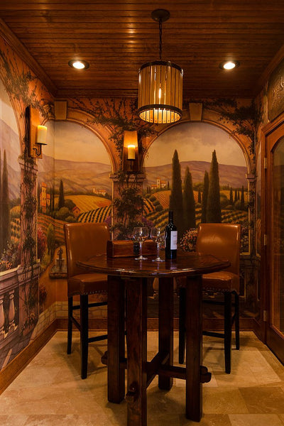 tuscan inspired trompe l'oeil wine cellar top 5 favourites NoticeBoardStore.com